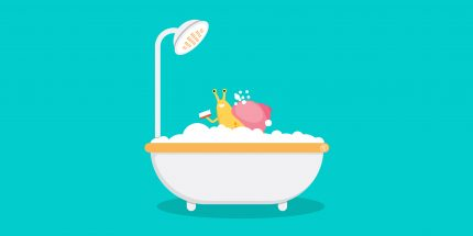 snail in bathtub