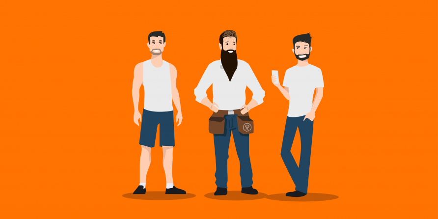 men with beards image