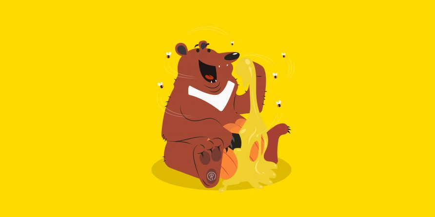 bear with honey